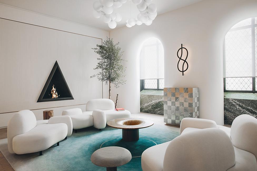 белая гостиная фото