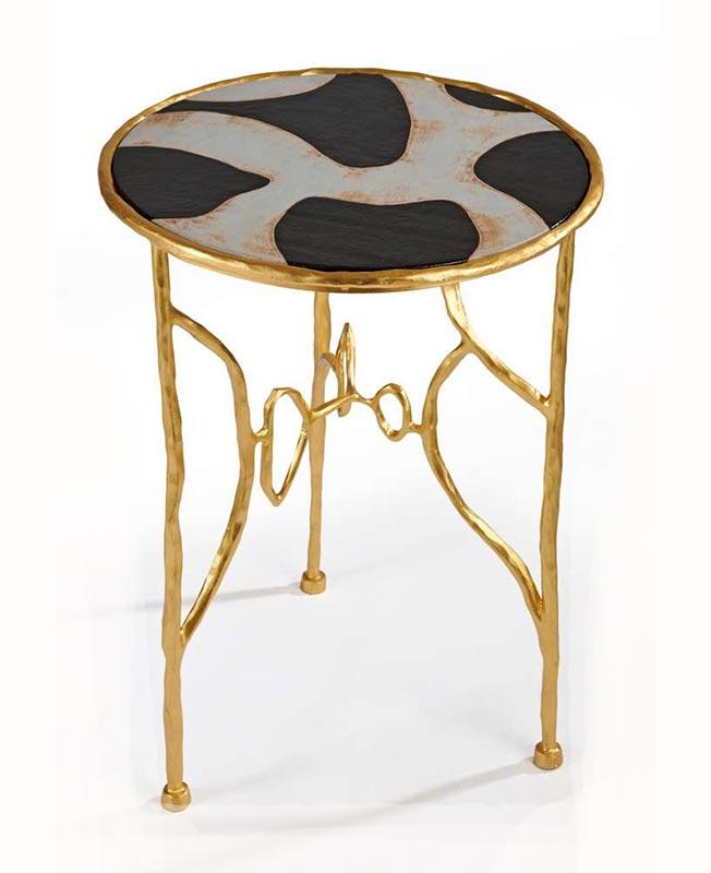 PAD London: Элизабет Гаруст. Геридон Auguste. Керамика, золото.