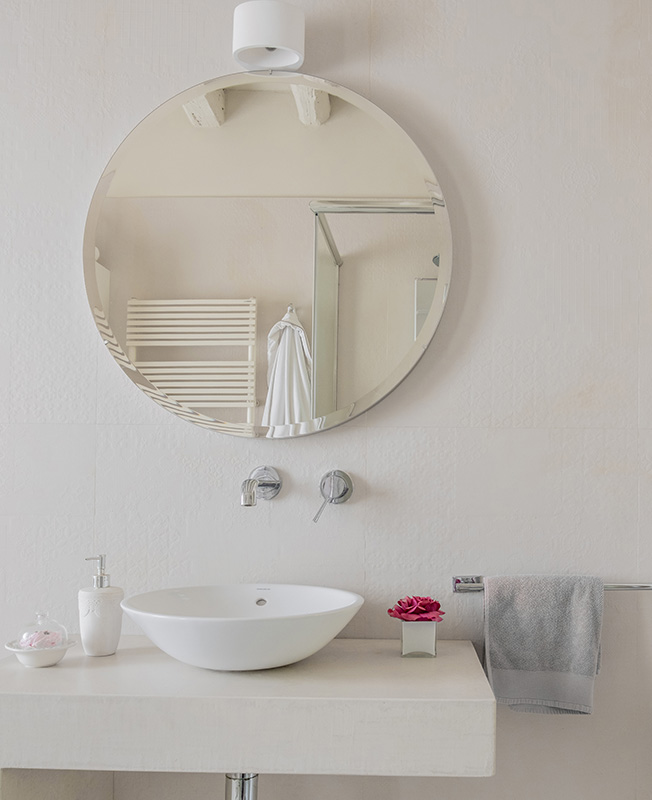 круглое зеркало в ванную фото