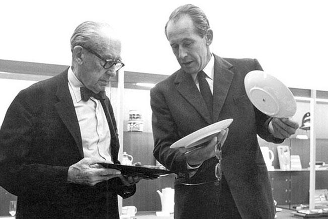 Филипп Розенталь и Вальтер Гропиус фото