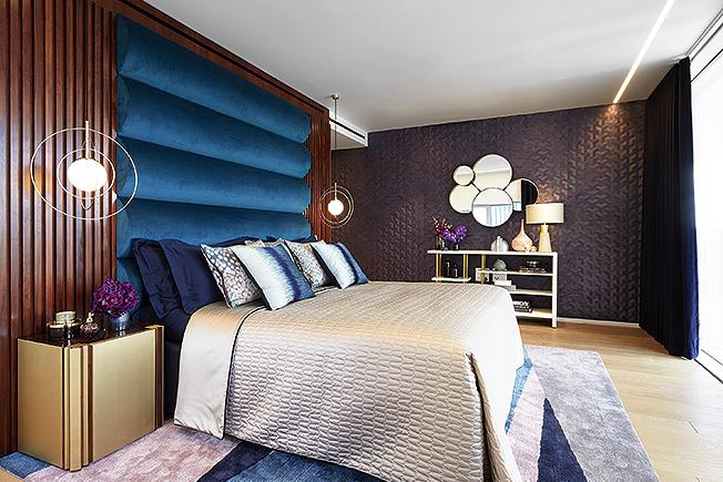 кровать с мягким изголовьем фото
