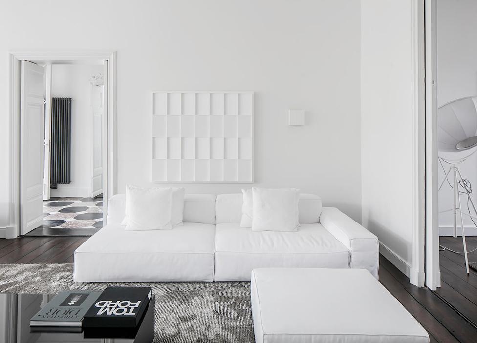 Белый в интерьере фото