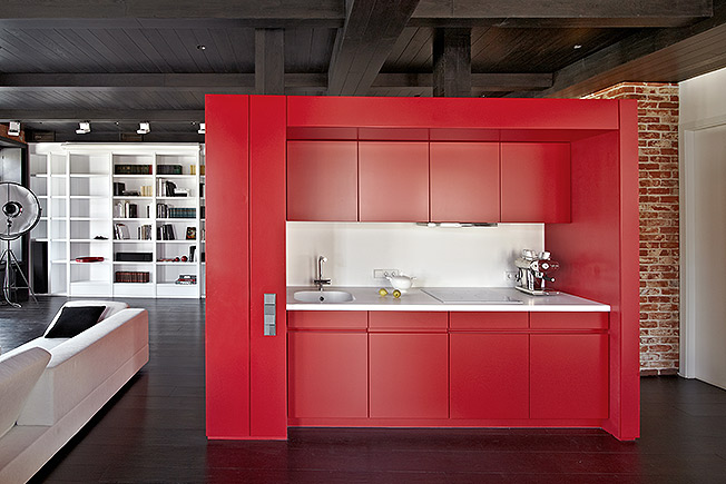 кухня красный фото
