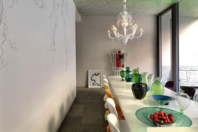 цветной потолок фото