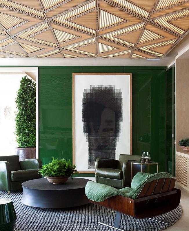 зеленый в интерьере фото