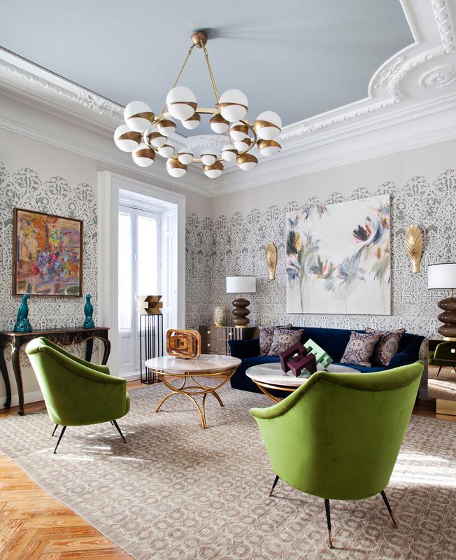 Эффектные обои для гостиной: 40 вариантов • Интерьер+Дизайн