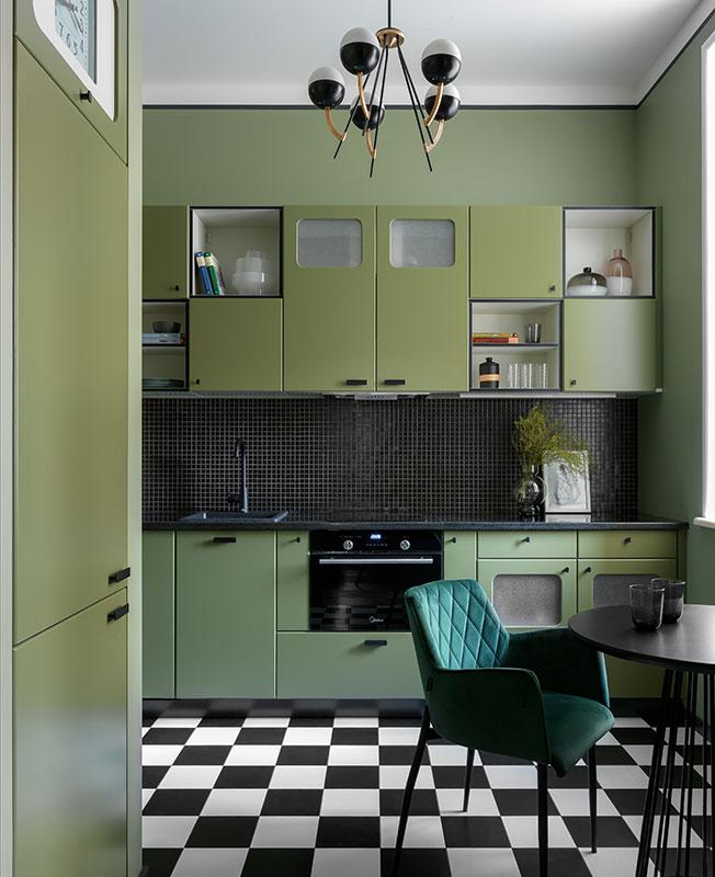 цветные кухни фото