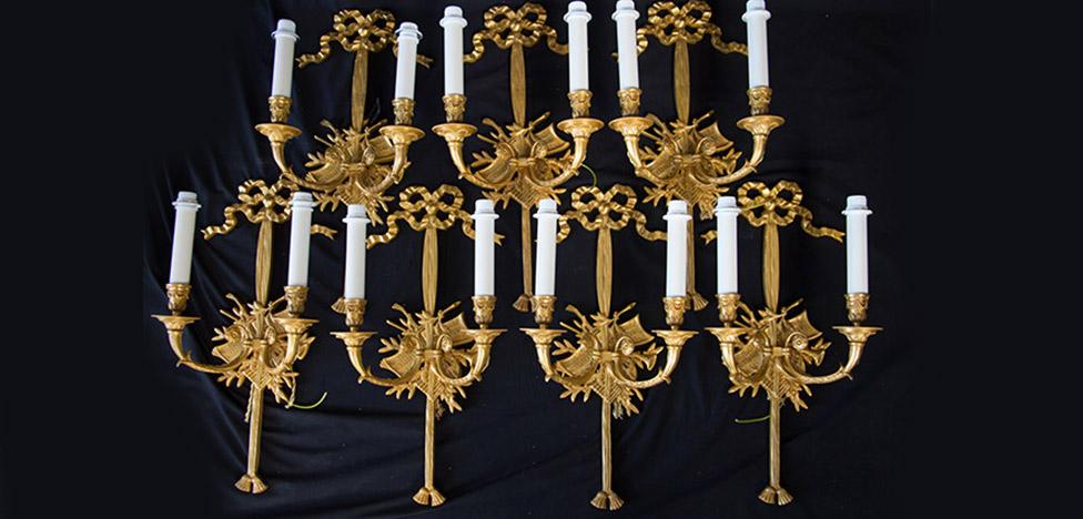 Bronze d'Art Français: люстры из французских замков