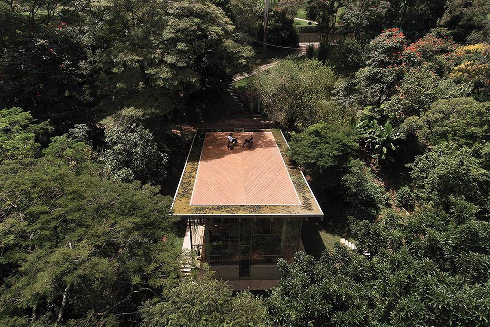 Дом-библиотека в бразильском лесу