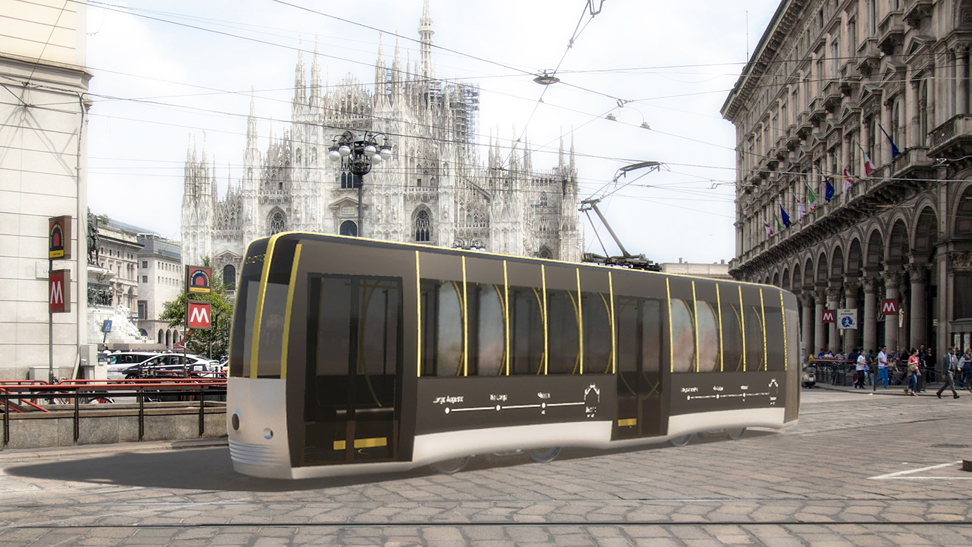 Миланский трамвай по проекту Артуро Тедески
