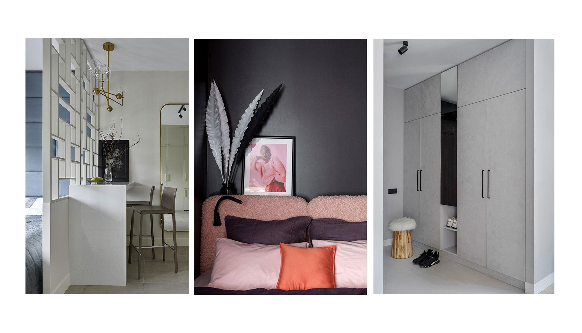 Дизайн квартиры-студии: 3 решения