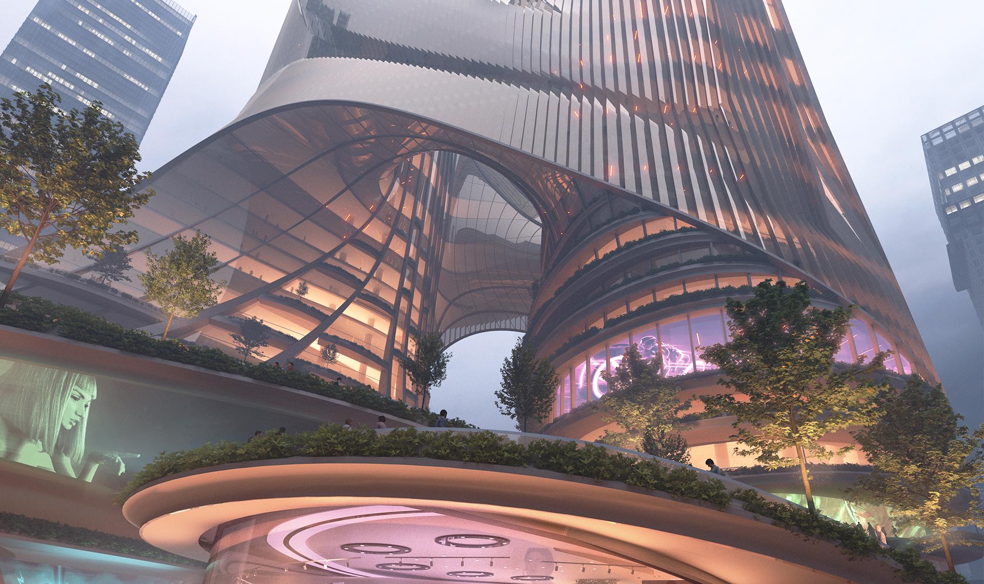 Небоскребы в Шэньчжэне по проекту Zaha Hadid Architects