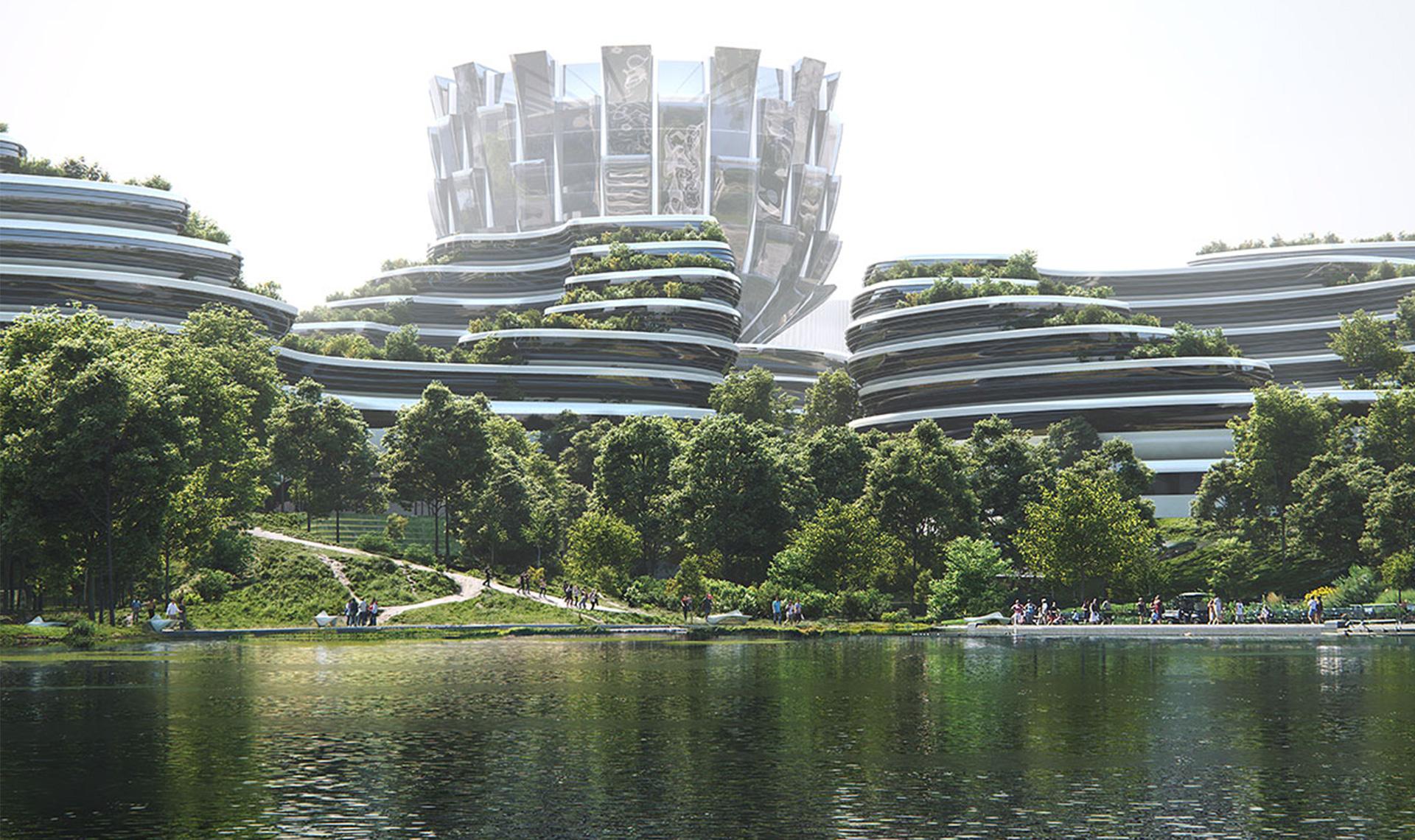 Zaha Hadid Architects cтроят остров для технологических стартапов в Китае