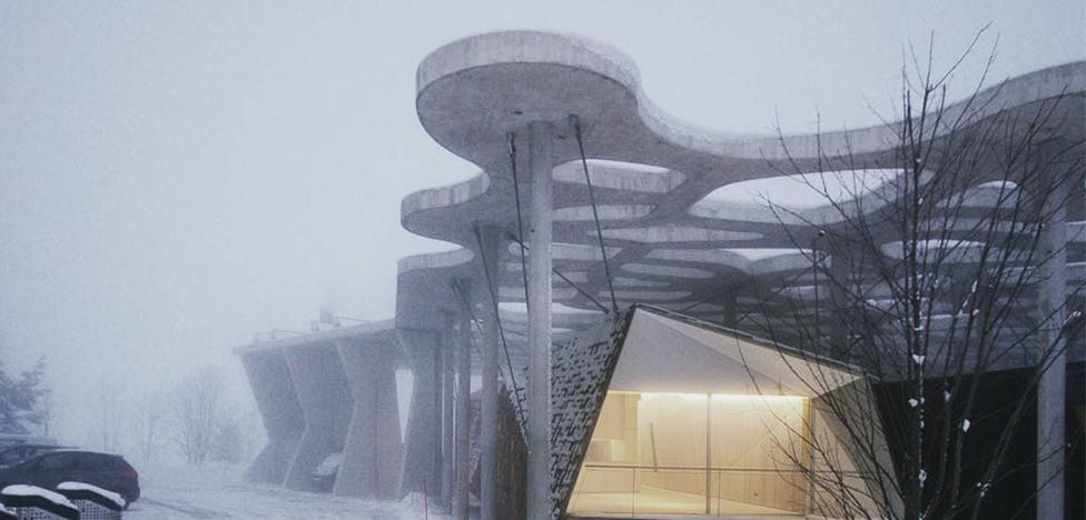 Кенго Кума построил дом-кокон в Швейцарии
