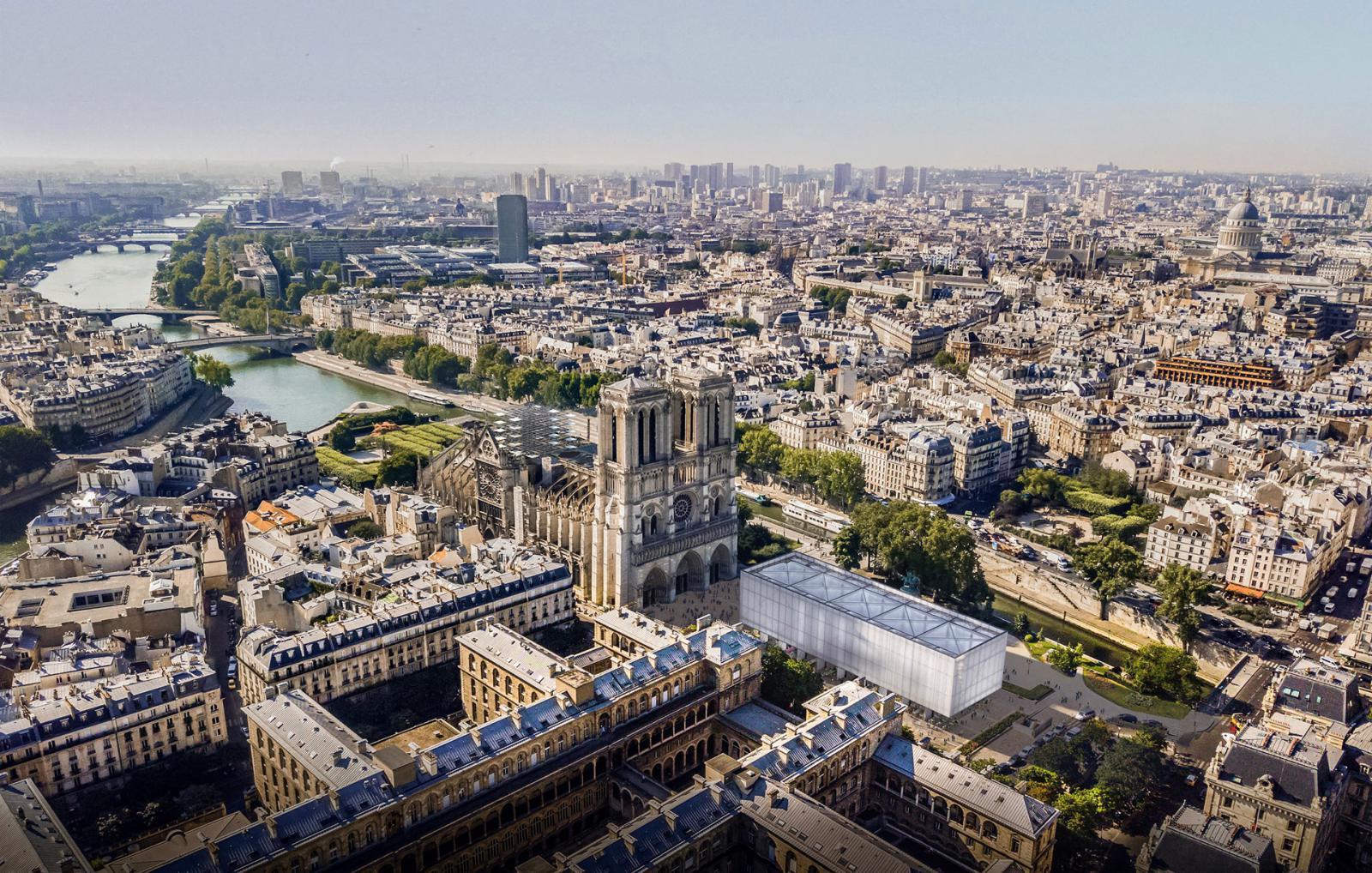 Gensler: павильон для собора Парижской богоматери