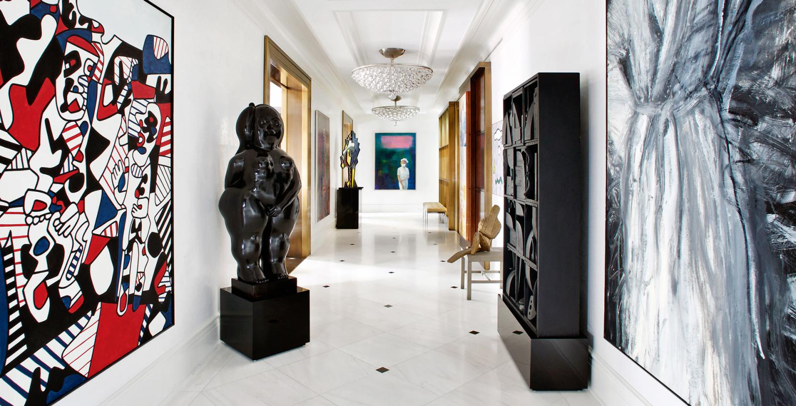 Искусство в интерьере: 17 комнат на Манхэттене