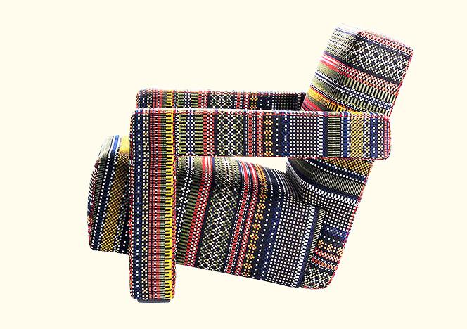 Кресло Ритвельда в обивке Пола Смита