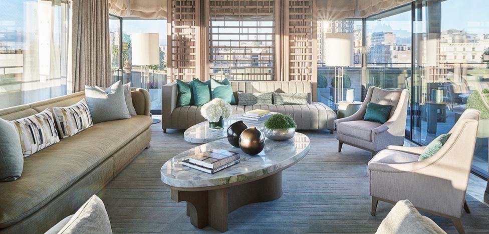 Отель The Berkeley открыл два сьюта по дизайну Андре Фу