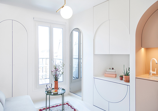 Микромасштаб: французский дизайн на одиннадцати квадратных метрах