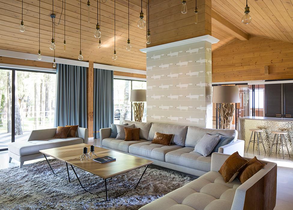Дом по проекту TS-Design: деревянный и современный