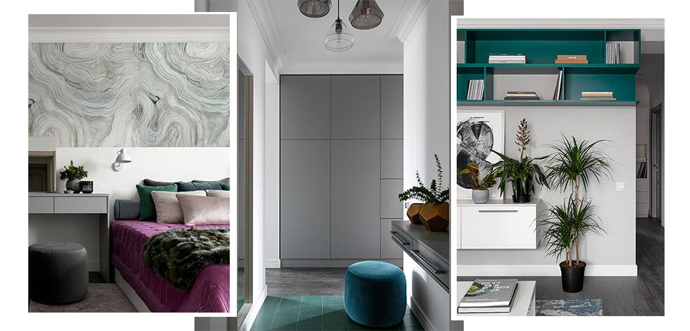 «Точка дизайна»: квартира 70 кв. метров с природными мотивами