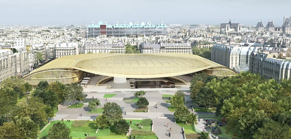 Открытие Les Halles: золотая крыша над «чревом Парижа»