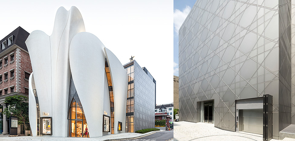 Кристиан де Портзампарк и Питер Марино спроектировали бутик Dior