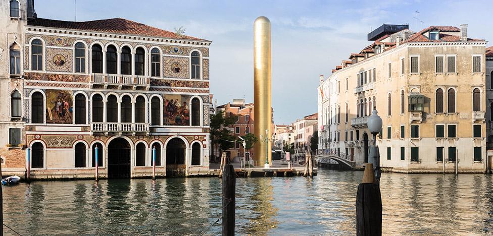 Джеймс Ли Бярс: Золотая башня на венецианском Гранд-Канале