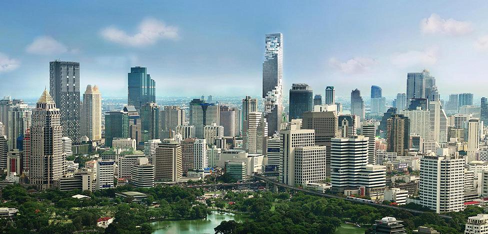 Оле Шерен (Ole Scheeren): струящийся небоскреб в Бангкоке