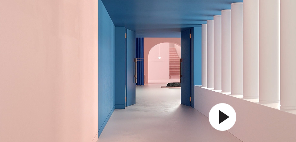 Massimo Dutti: туфли и клатчи в розовом отеле