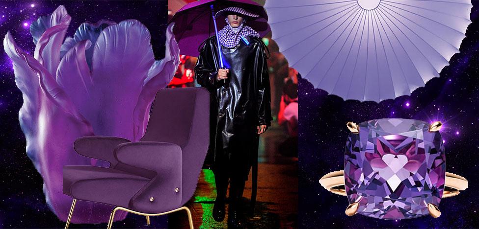 В цвете 2018 года: вещи и интерьеры в палитре ультрафиолет