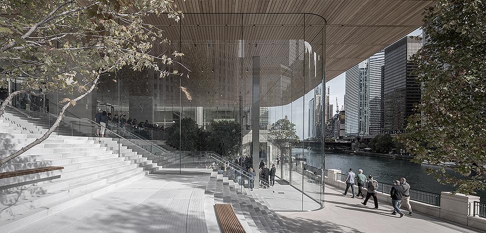 Foster + Partners для Apple: магазин на ступеньках