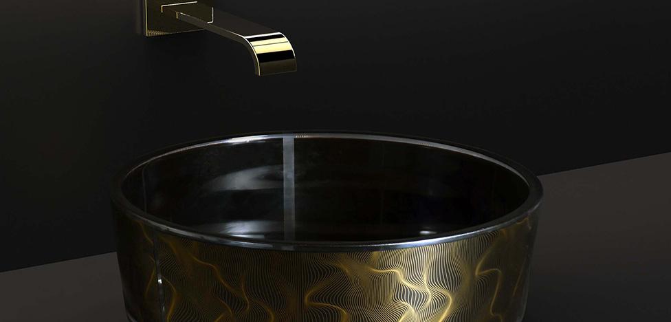 Из золота и хрусталя: раковины Карима Рашида