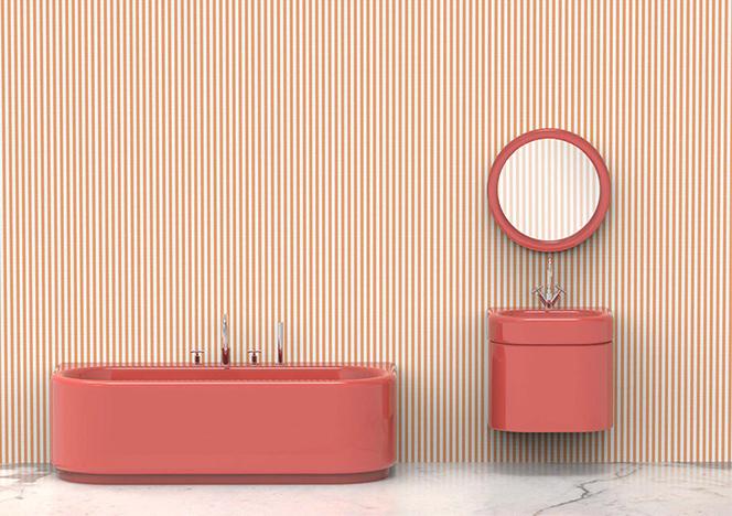 Индиа Мадави: розовая ванна для Bisazza