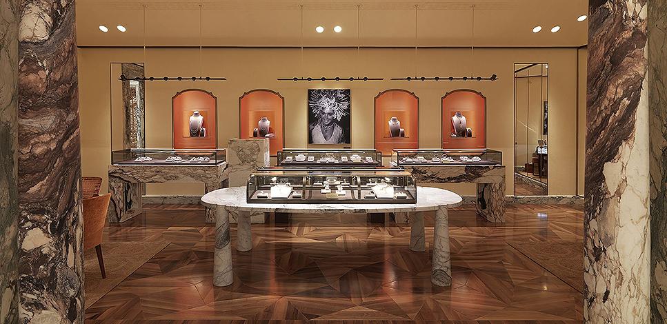 Флагманский бутик Bvlgari в Лондоне: проект Питера Марино