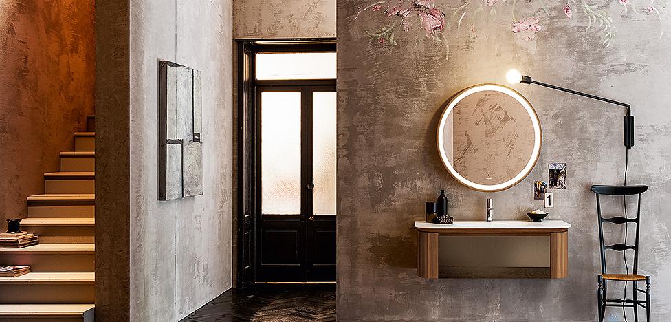 Ванные комнаты и модный интерьер