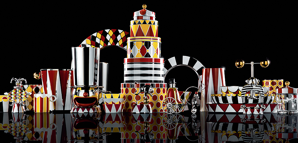 Марсель Вандерс для Alessi: цирк на столе