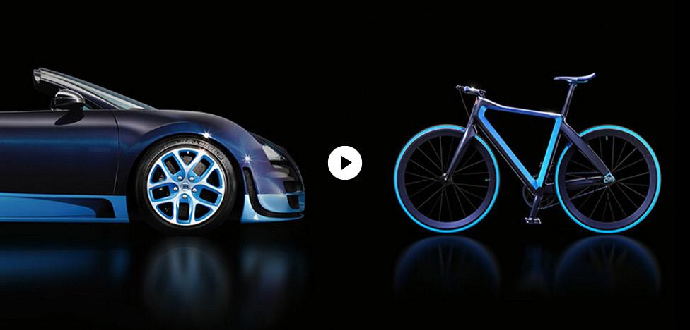 Bugatti: самый легкий в мире городской велосипед