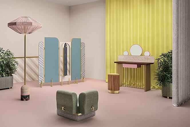 Кристина Челестино: «счастливая комната» для Fendi