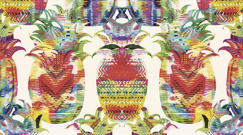 Текстиль Camengo: Мемфис и ананасы, динамика и цвет