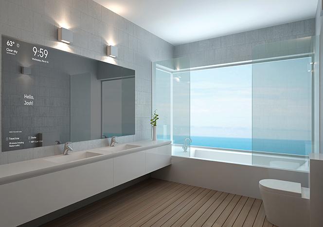 Смарт-зеркала: тренд для ванной комнаты