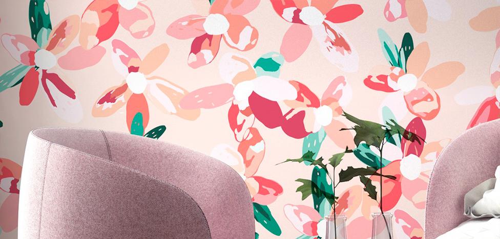 PaperMint x Monsieur Marguerite: обои и живые цветы