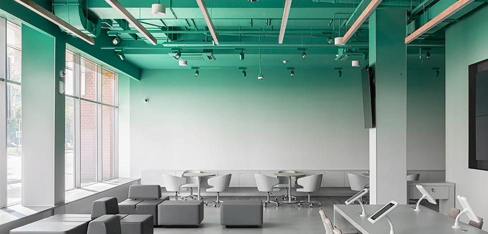 KIDZ Design: банковский офис с градиентом