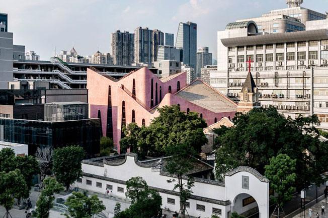 Розовая церковь в Китае