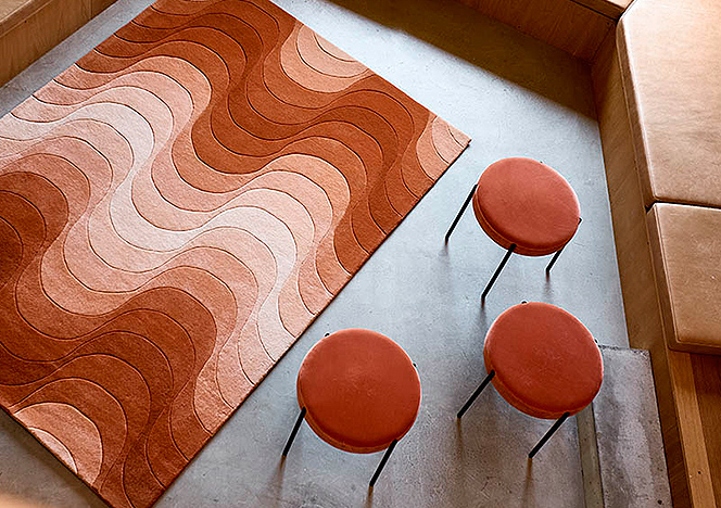 Иконы датского дизайна: ковры и табуреты Вернера Пантона