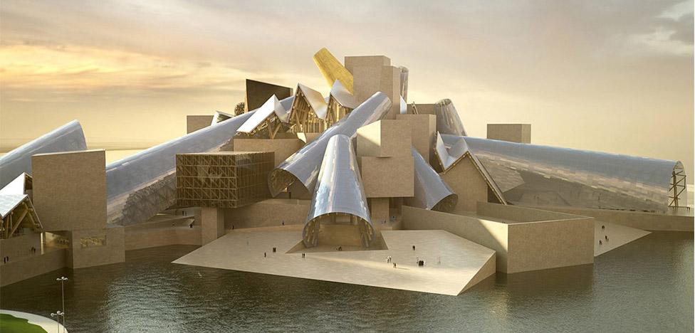 Фрэнк Гери строит Музей Гуггенхайма в Абу-Даби