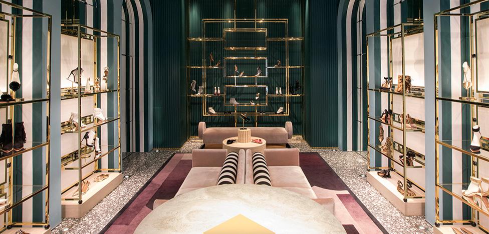 Humbert & Poyet: бутик Aquazzura в Сохо