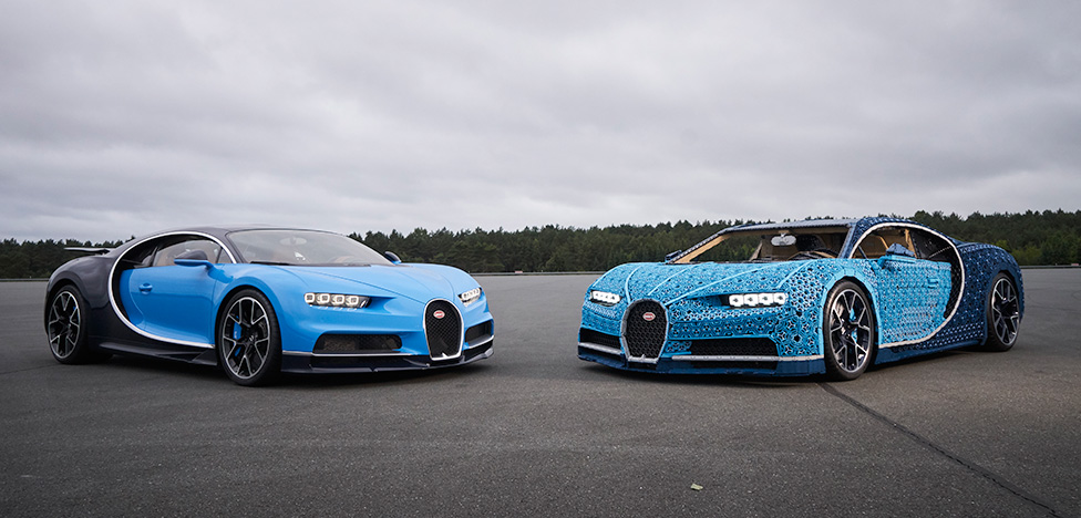 Bugatti Chiron из деталей LEGO в Москве