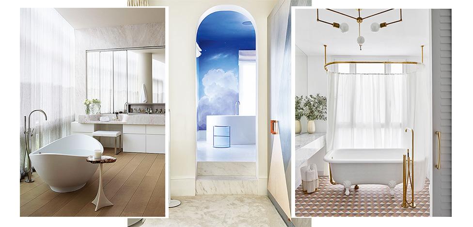 Отдельностоящая ванна: 35 решений