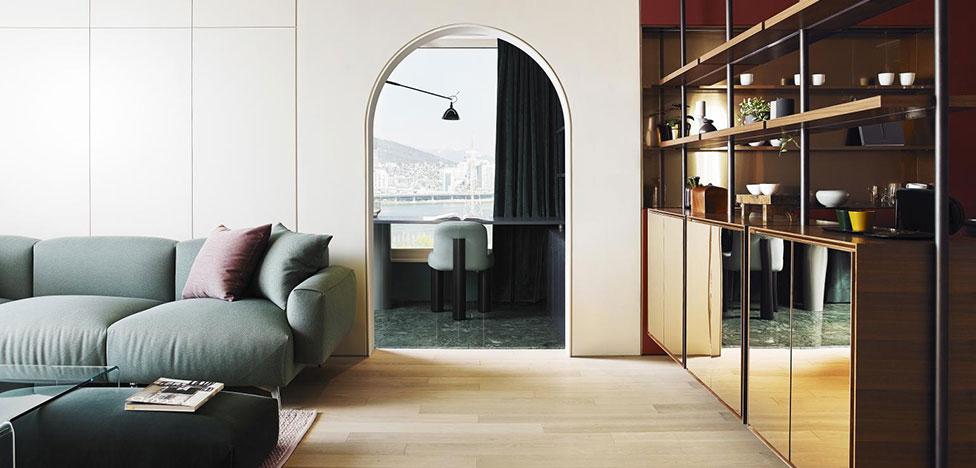 Квартира с европейским дизайном в Сеуле